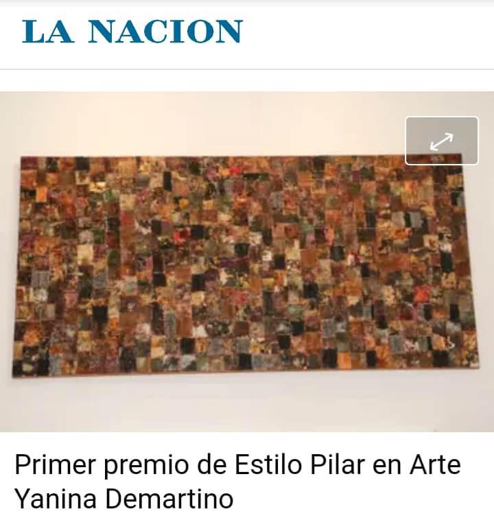 Nota La Nacion - premio Espacio Pilar